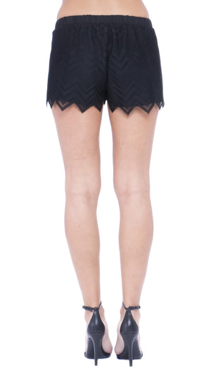Kelsa Chevron Lace Shorts