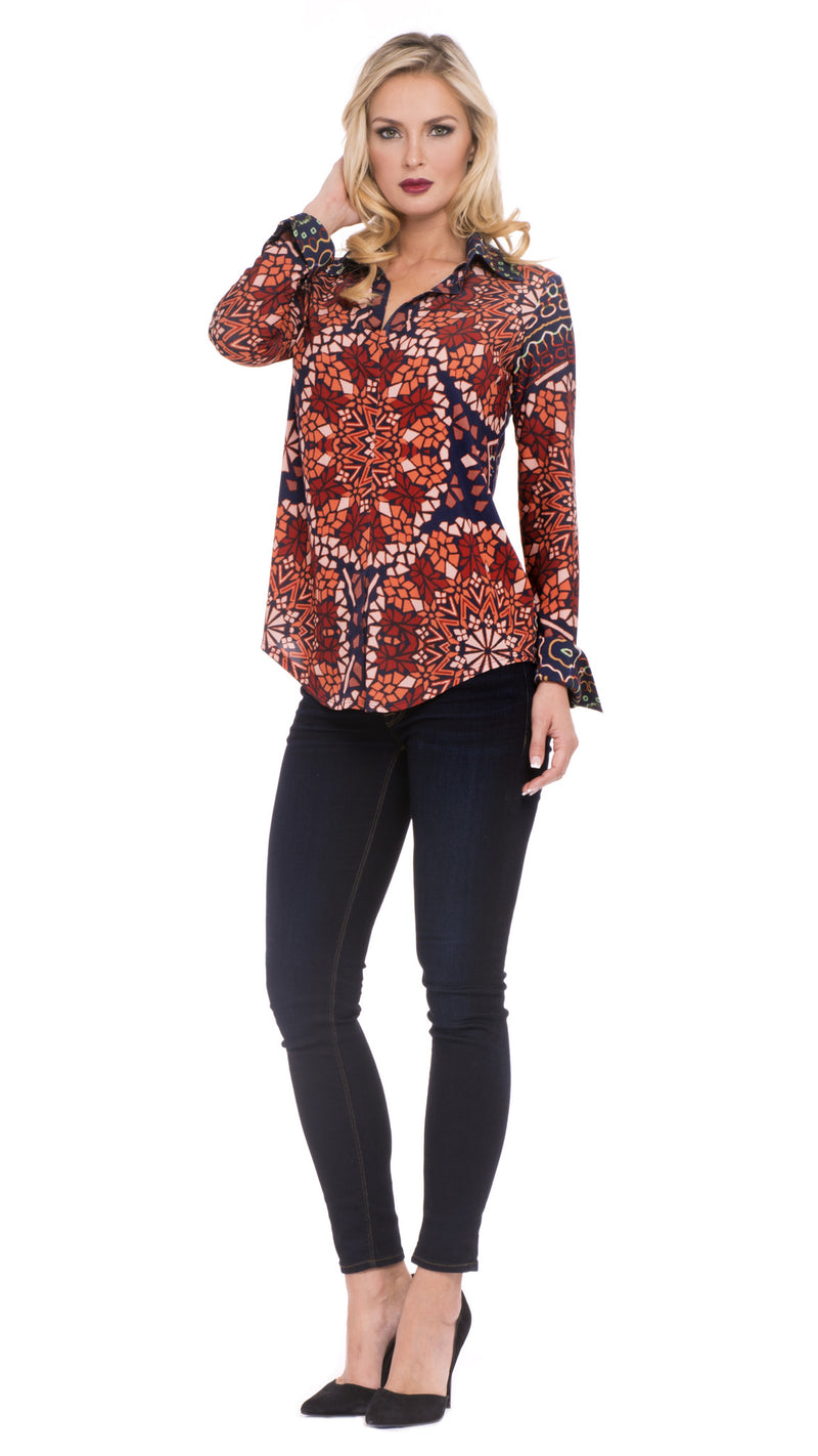 Sophie Faux Button-Down Top