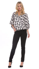 Sadie Cross Over Silk Top