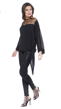 Elise Asymmetric Dolman Top