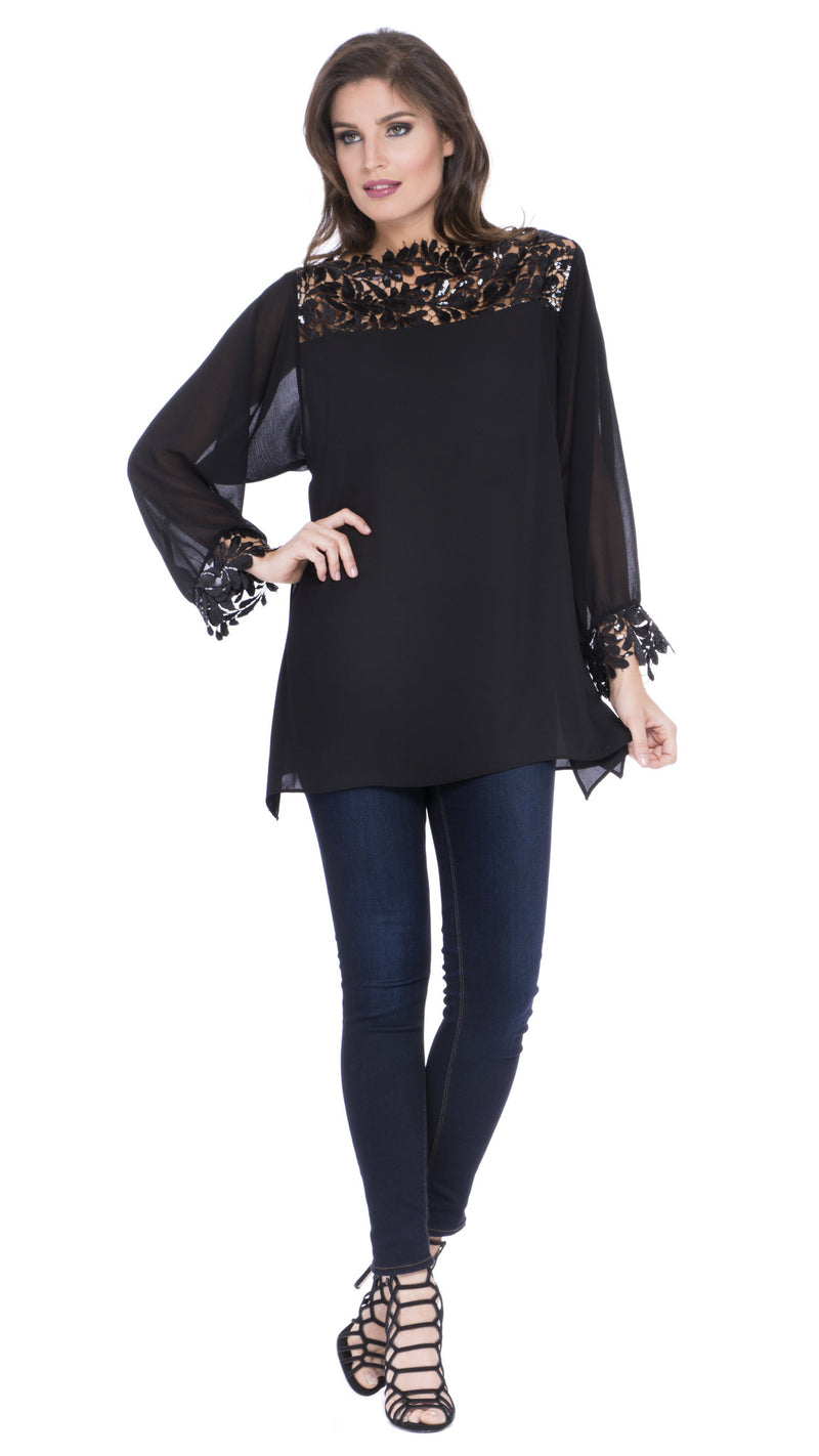 Catalina Lace Panel Top