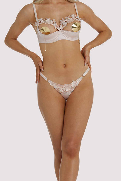 Playful Promises Virginia Peach Guipure Brief