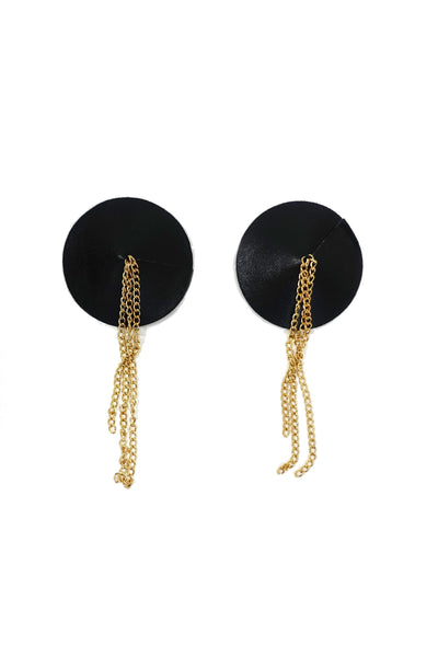 Elvira Lace Gold Chain Tassel Pasties