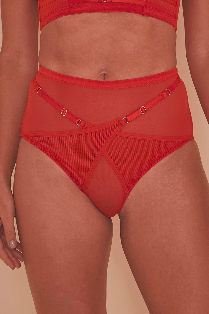 Eddie Crossover Wrap High Waist Brief Core