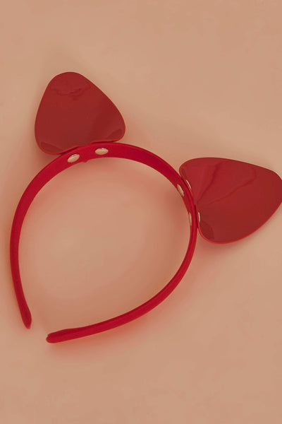 Regalia Cat Ear Headband Red