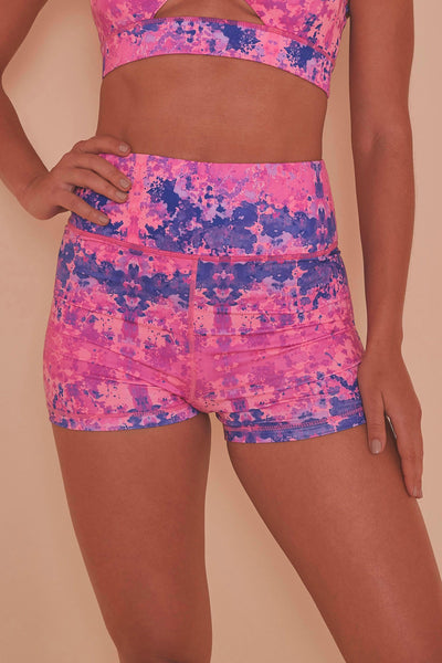 Wolf & Whistle Pink Marble Shorts