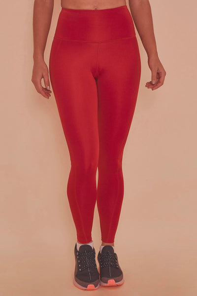 Wolf & Whistle High Waist Leggings Red