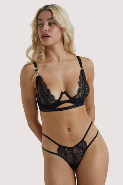 Wolf & Whistle Renata Black Bra
