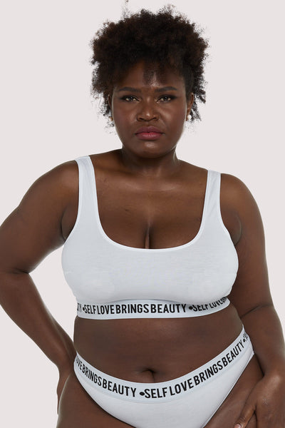 Felicity Hayward Self Love White Curve Crop top