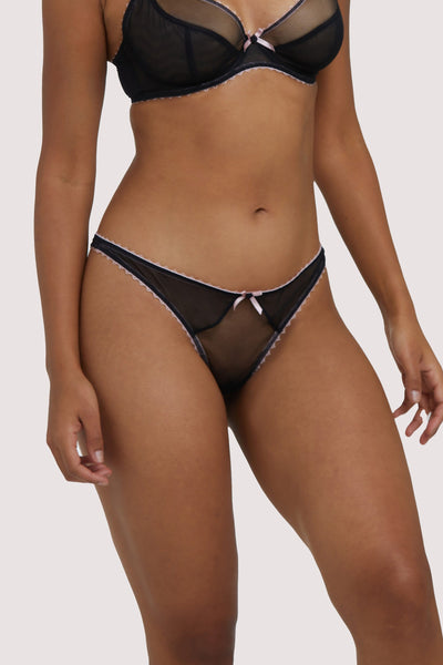 Deja Day Grace Black & Pink Thong