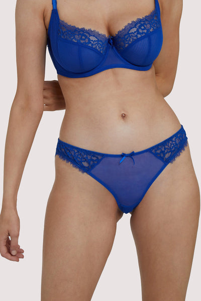Deja Day Rosalyn Marine Blue Brazilian Brief