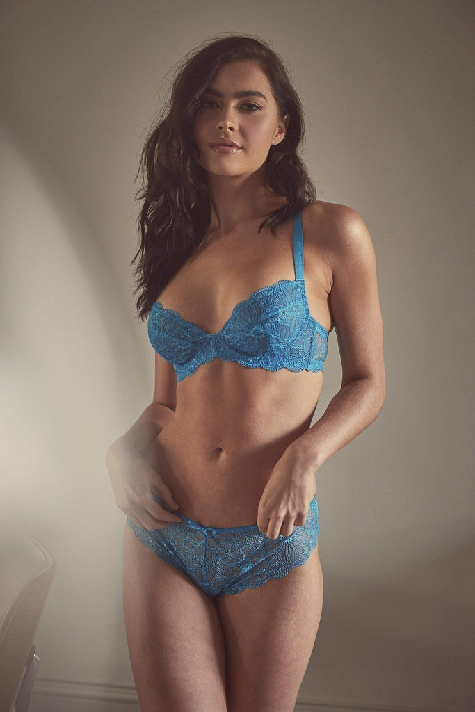 Wolf & Whistle Ariana Bright Aqua Everyday Lace Bra