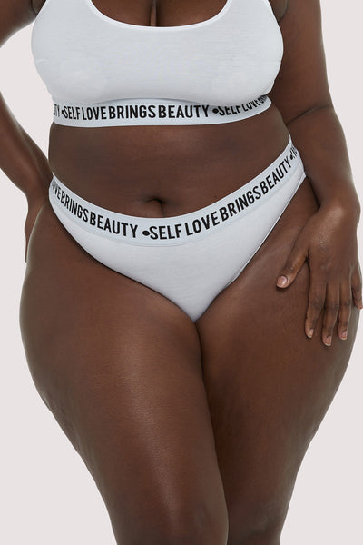 Felicity Hayward Self Love White Curve Brief