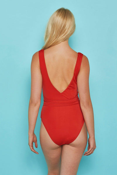 Wolf & Whistle Red strappy swimsuit