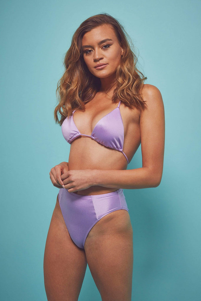 Wolf & Whistle High shine triangle top lilac