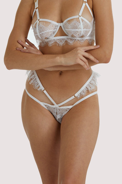 Wolf & Whistle Chantal White Brazilian Brief