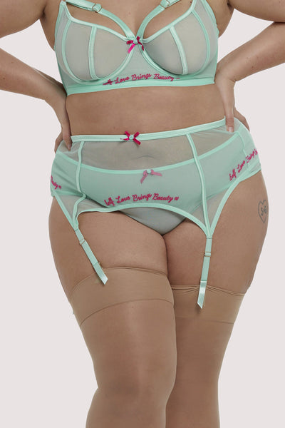 Felicity Hayward Self Love Mint Curve Suspender Belt