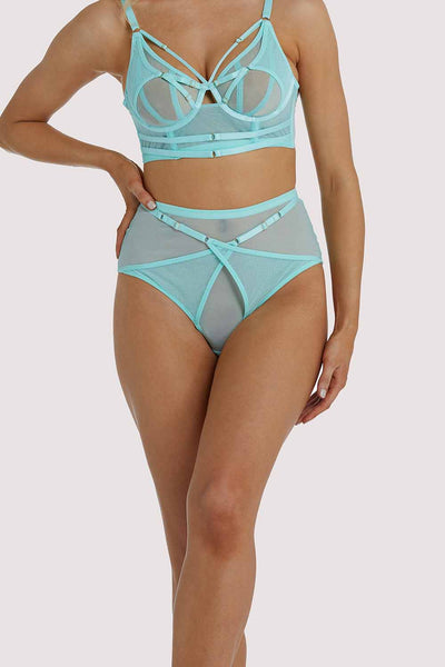 Playful Promises Eddie Aqua Crossover Wrap Brief