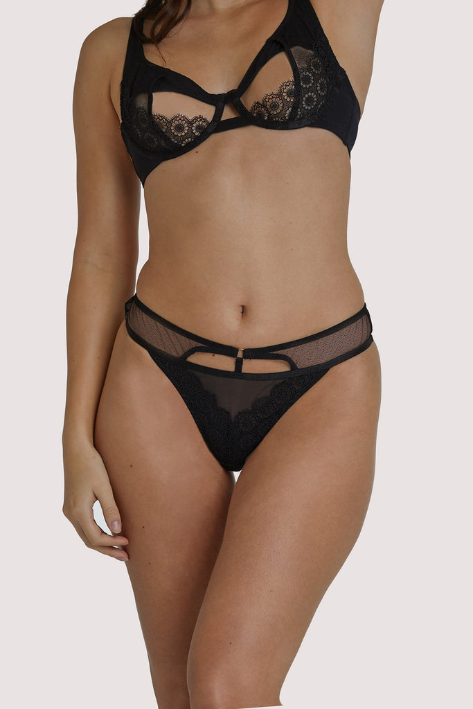 Regalia Elva Black Hipster Thong