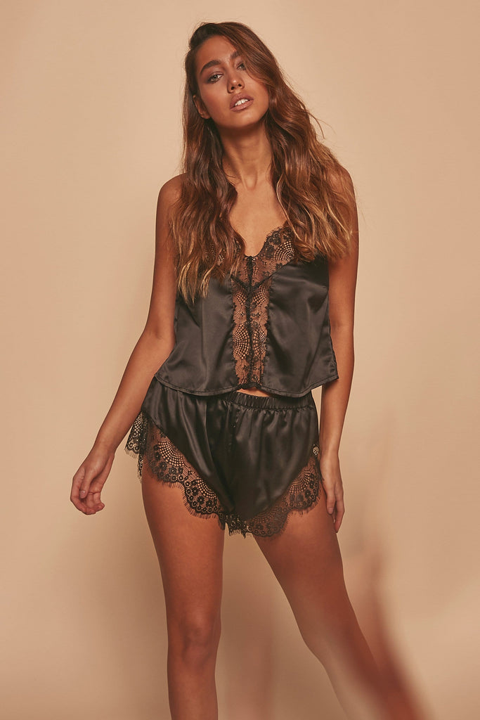 Wolf & Whistle Millie Satin and lace PJ set