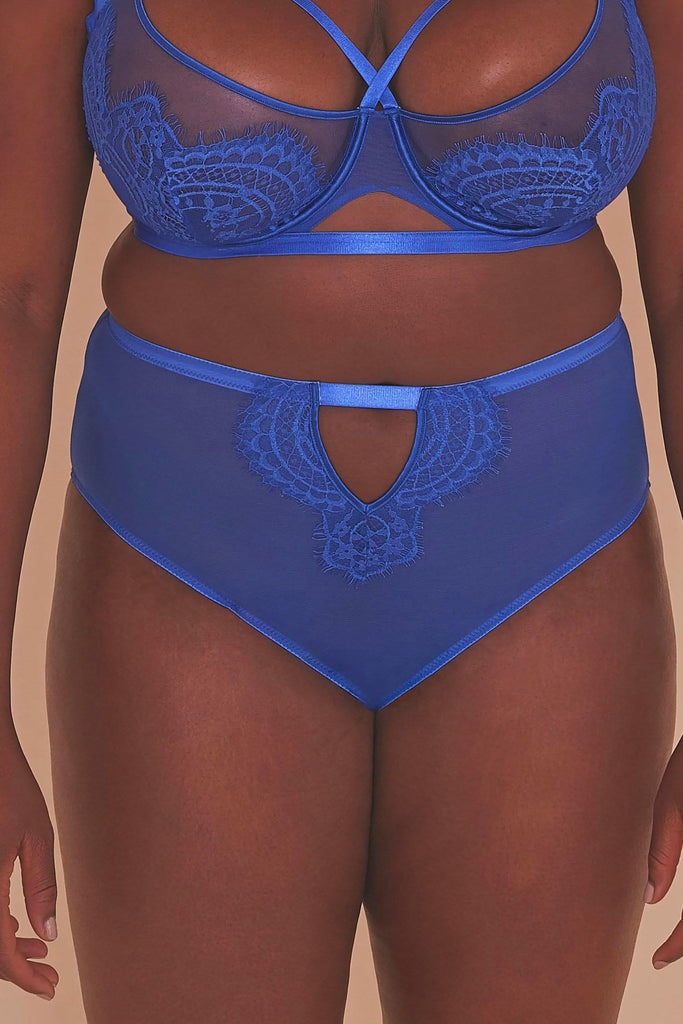 Gabi Fresh Lyla Strappy Cobalt High Waist Knicker