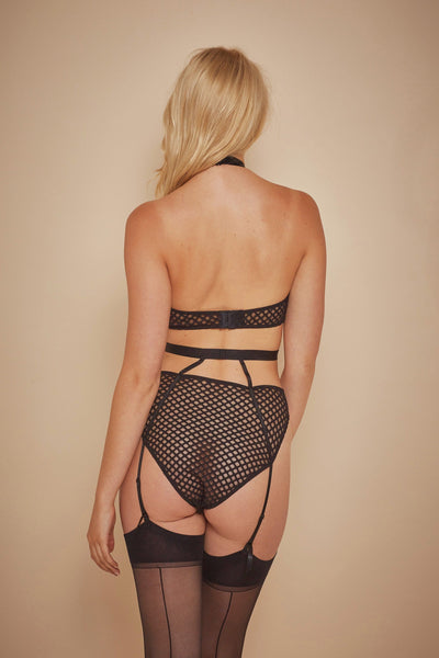 Wolf & Whistle Avis Fishnet and Lace Cut Out Body