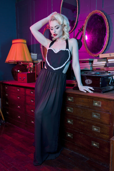 Bettie Page Heart Tie Chemise
