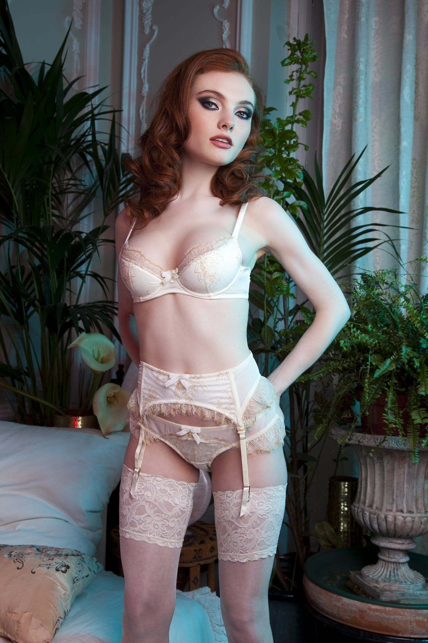 d4da3a43620 Karine Bridal Ivory Gold Bra A-D Cups - Playful Promises USA