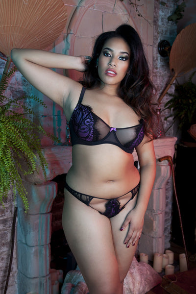 Candy Ultra Violet/Black Bra Curve