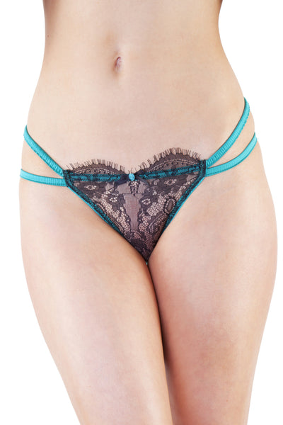 Cordelia Emerald Lace Overlay Brief
