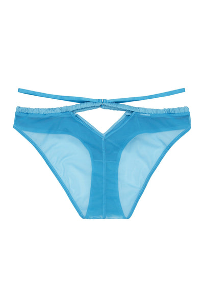 Peek & Beau Dani Blue Strappy Satin Brief