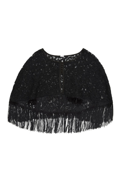 Peek & Beau Elvira Lace fringed cape