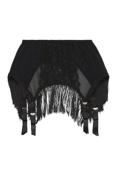 Peek & Beau Elvira Lace fringed suspender belt