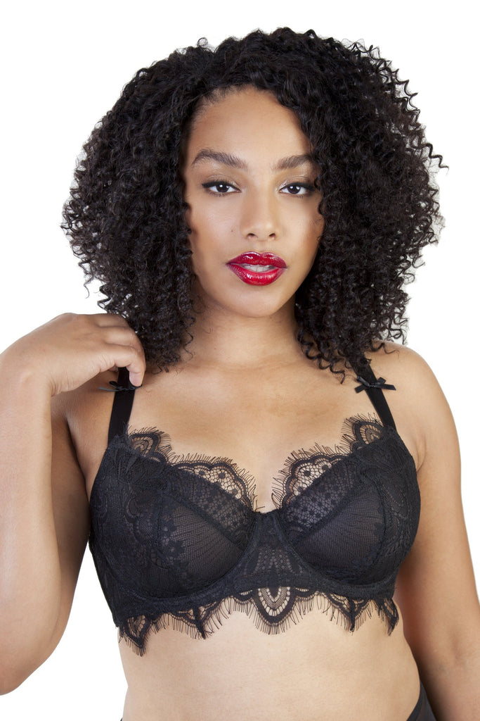 Gabi Fresh Holly Black Mesh & Lace Bra