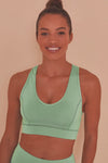 Mint Green Sports Bra