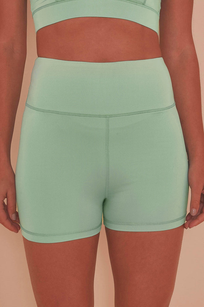 Mint Green cycling shorts
