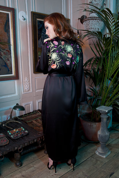Jasmin Long Embroidered Kimono - Seconds