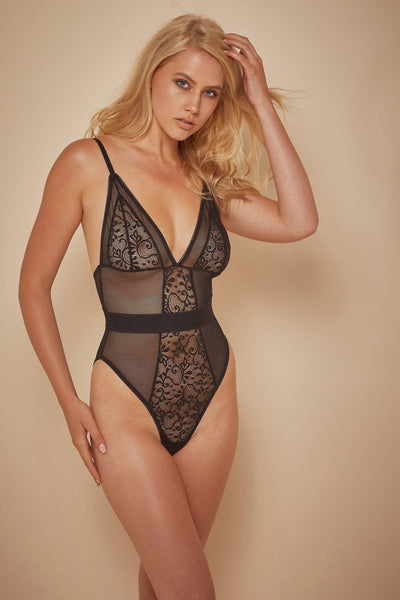 Wolf & Whistle Lia Fishnet and lace body