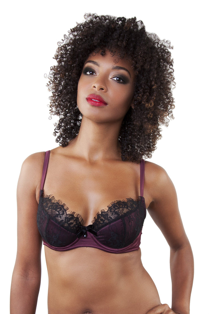 Karine Wine/Black Bra
