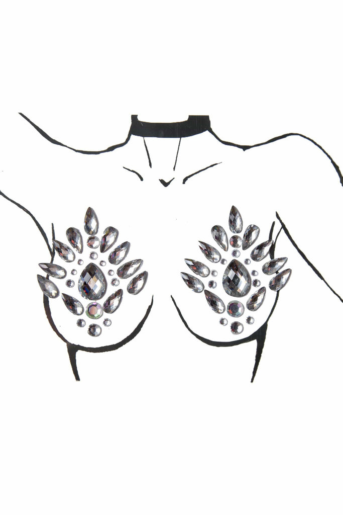 Wolf & Whistle Silver Nipple Body Jewels