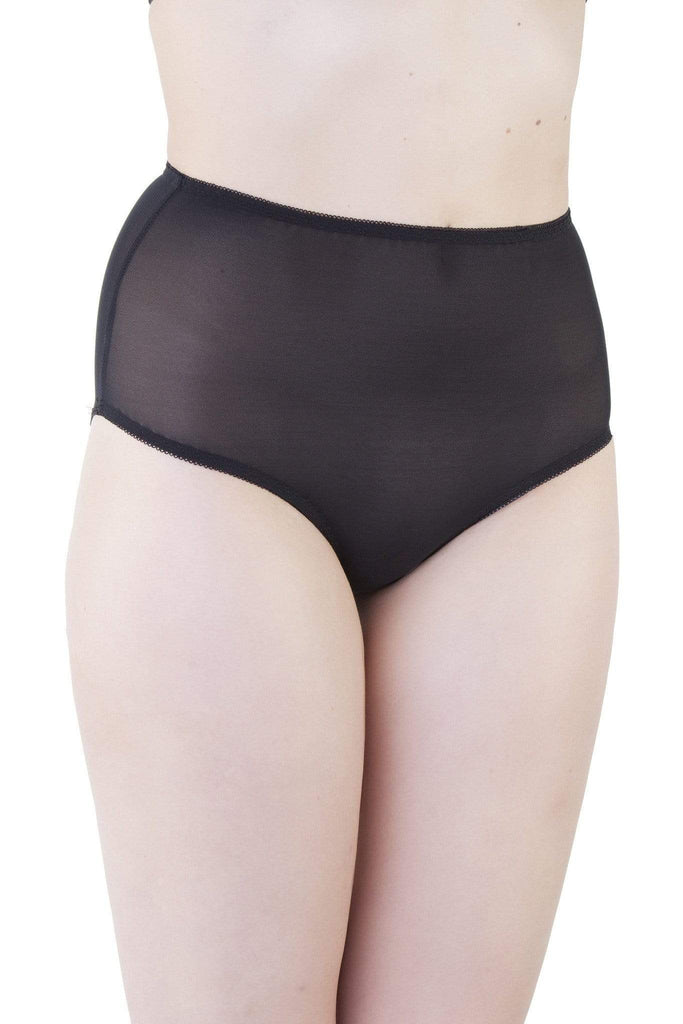 mesh high waist brief black bettie page retro vintage
