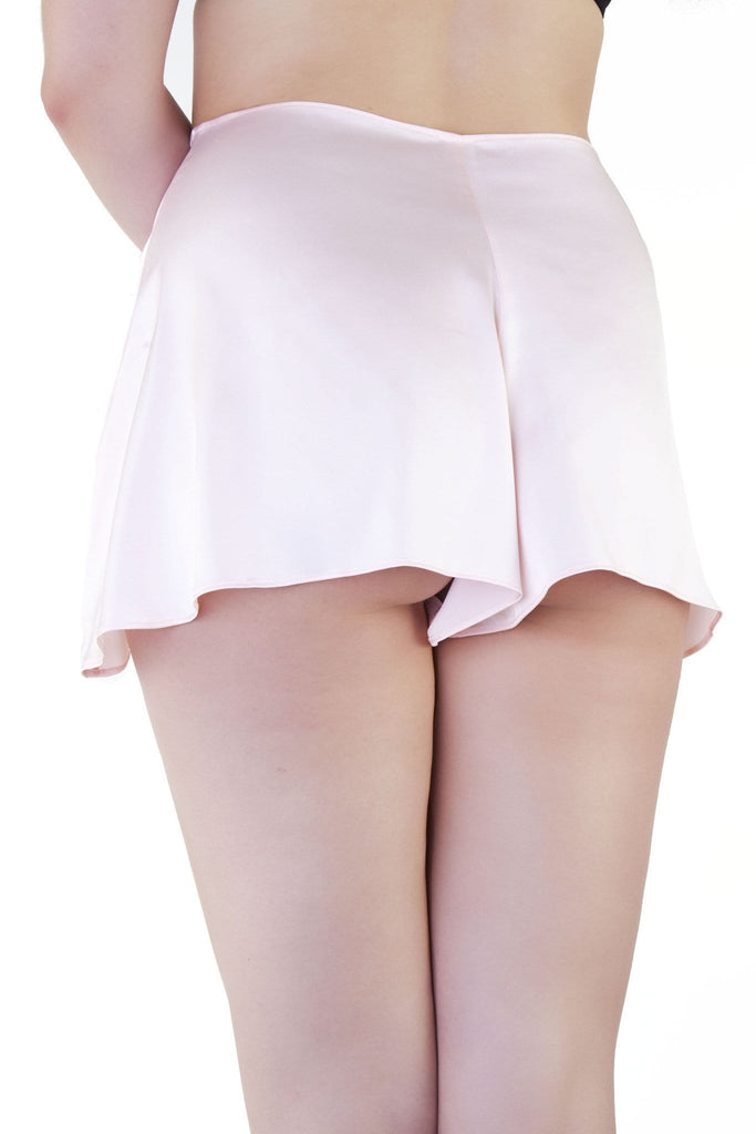 bettie page peach pink french knicker tap pant satin shorts retro vintage