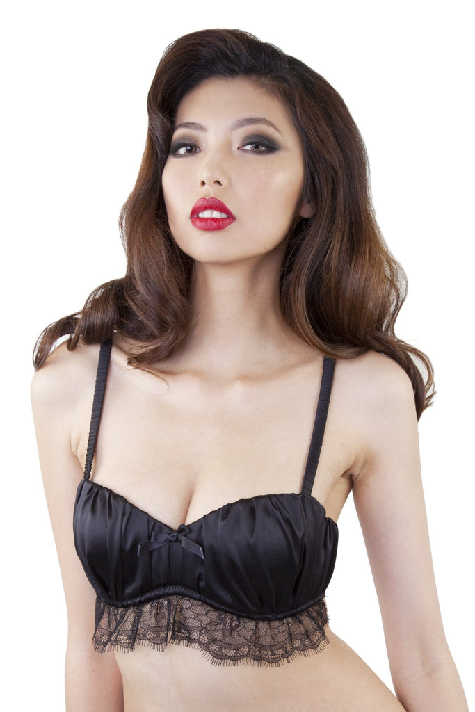 Isadora Ruched Bra Black A-D Cups