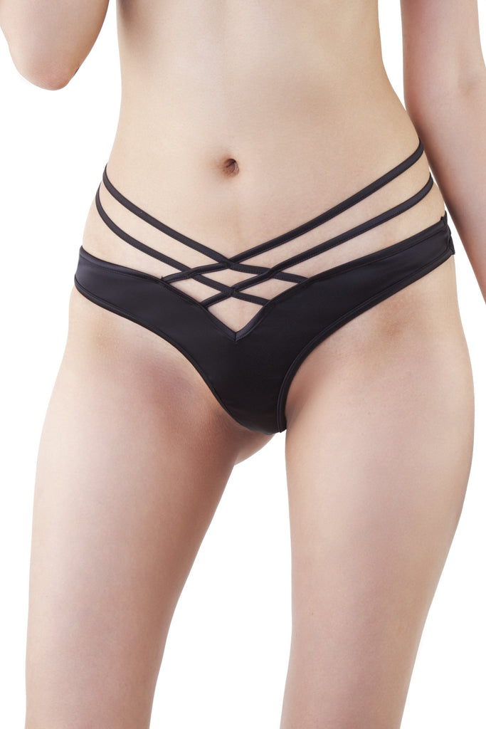 Lotus Noir Thong