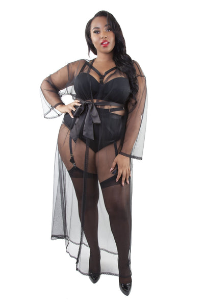 Gabi Fresh Betty Sheer Tulle Robe