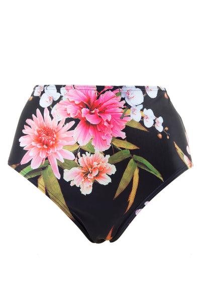 Peek & Beau Black Floral Print High Waist Brief