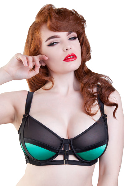 Emerald Strappy Bra DD+ Cups