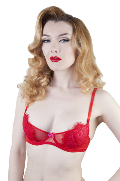 Love Pink/Red Bra A-D Cups