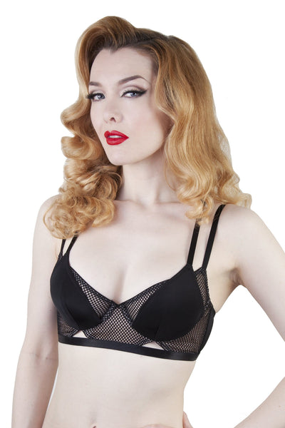 Peek & Beau Jazz Black Fishnet Bra