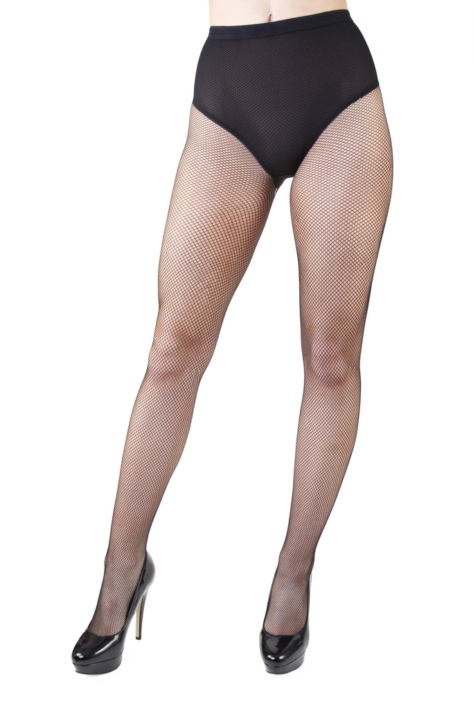 Bettie Page Fishnet Seamed Cabaret Tights
